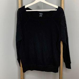Torrid Black Pullover Sweater